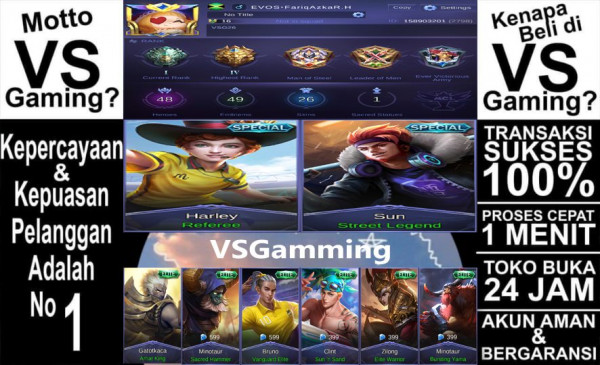 Akun Mobile Legends GG (Tag: #sultan #hero #epic)