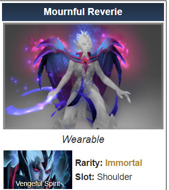 Mournful Reverie (Immortal TI8 Vengeful Spirit)