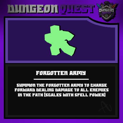 Forgotten Army Spell || Dungeon Quest