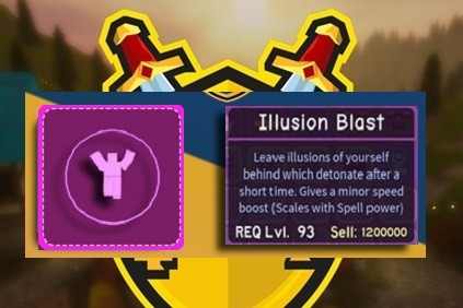 Illusion Blast Spell || Dungeon Quest
