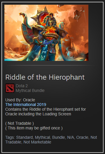 Riddle of the Hierophant (Collector Oracle Set)