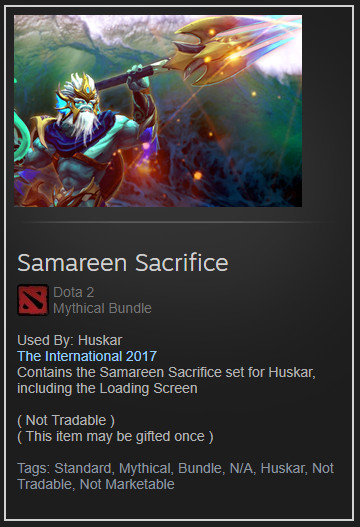 Samareen Sacrifice (Collector Huskar Set)