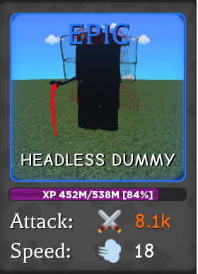 Headless Dummy - Wizard Simulator