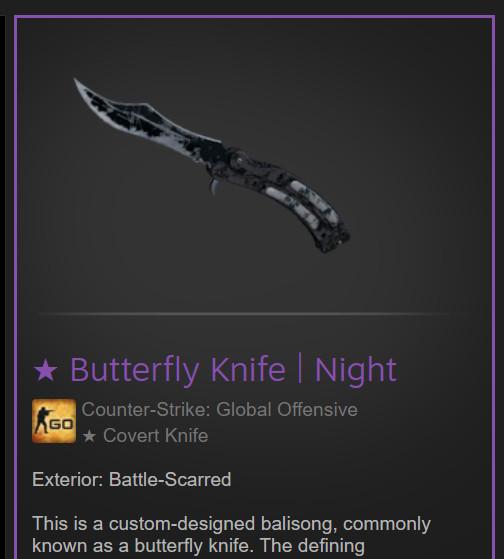 Butterfly Knife | Night