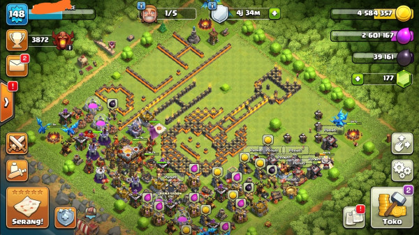 Clash of clans townhall 11 supermax aman mantap sultan