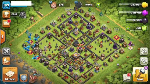 TH11 Level 149 King 22 Queen 32 Warden 6