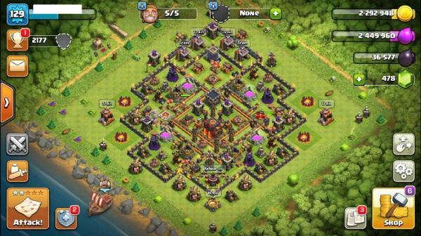 TH10 Maxed Level 129 King 25 Queen 24