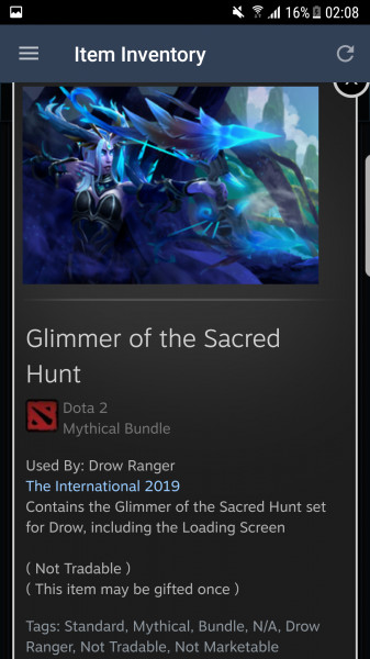 Glimmer of the Sacred Hunt (Drow Ranger Set)