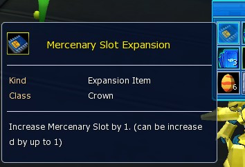 Mercenary Slot Expansion