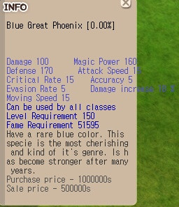 Blue Great Phoenix