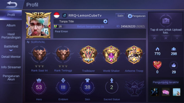 Mobile legends hero53 skin38 allunbind emblemmax3