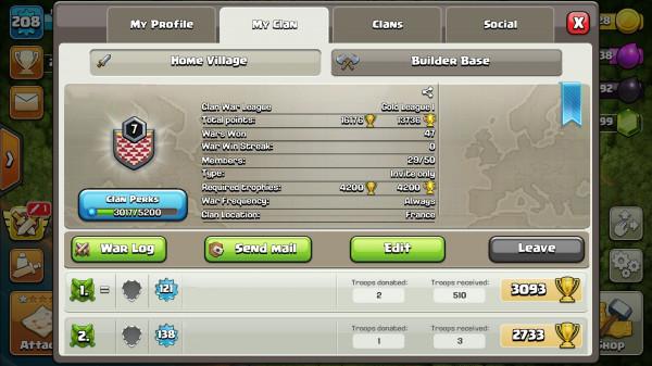 Clan Level 7 Menuju Level 8 + Nama Clan Unik