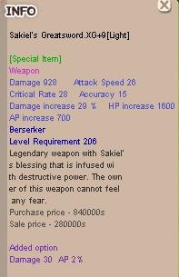 Sakiel Great Sword .XG+9