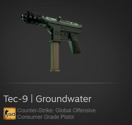 Tec-9 | Groundwater (Consumer Grade Pistol)