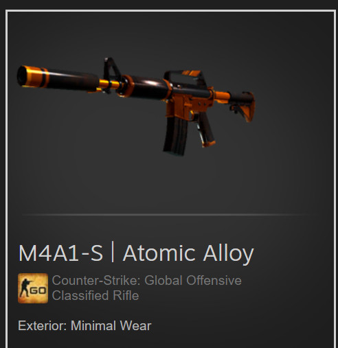 M4A1-S | Atomic Alloy (Classified Rifle)