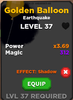 Golden Balloon + Shadow effect | Treasure Quest