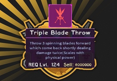 Triple Blade Throw