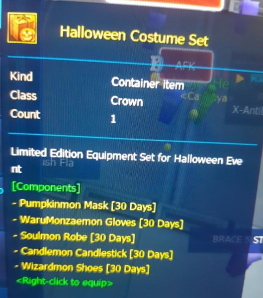 Spooky Halloween Costume Set [30 Days]
