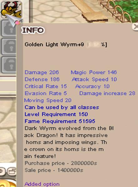 Golden Light Wyrm+9 ODI3