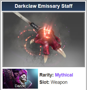Darkclaw Emissary Staff (Dazzle)