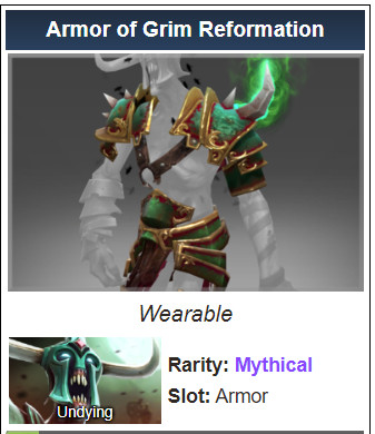 Armor of Grim Reformation (Undying)