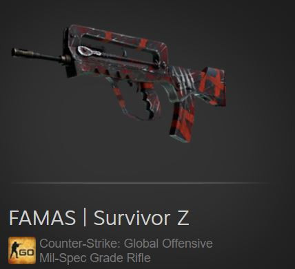 FAMAS | Survivor Z (Mil-Spec Grade Rifle)