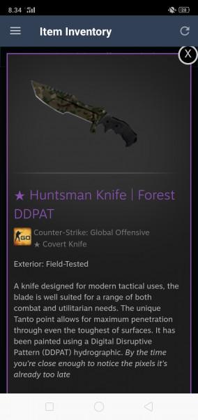 Huntsman Knife | Forest DDPAT