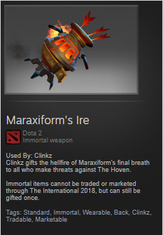 Maraxiform's Ire (Immortal TI7 Clinkz)
