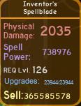 Inventor's Spellblade [738K][MAX][DUNGEON QUEST]
