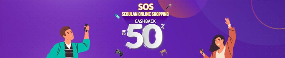 Cashback 50% dari Sebulan Online Shopping OVO!