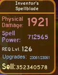 Inventor's Spellblade [712K][MAX][DUNGEON QUEST]