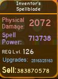 Inventor's Spellblade [713K][MAX][DUNGEON QUEST]