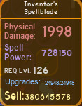 Inventor's Spellblade [728K][MAX][DUNGEON QUEST]