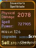 Inventor's Spellblade [727K][MAX][DUNGEON QUEST]