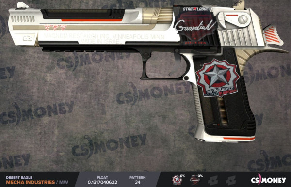 Desert Eagle | Mecha Industries MW with 2 Stickers
