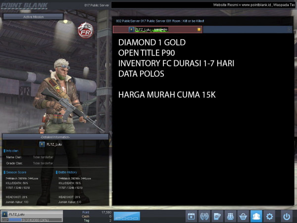 Diamond 1 Emas OPEN TITLE P90