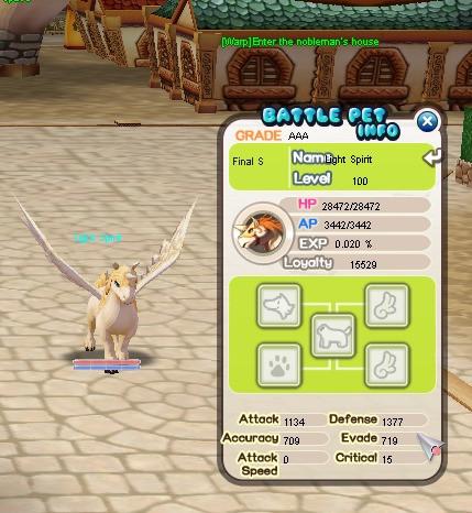 (Battle Pet) Light Spirit / LS AAA LVL 100 LYL 15K