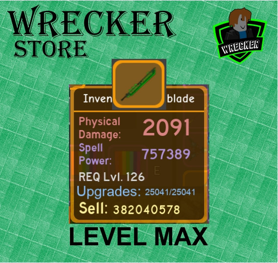 Inventor's Spellblade (Max) | Dungeon Quest