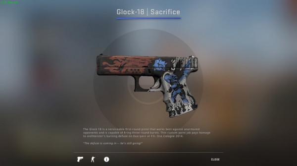 Glock-18 | Sacrifice ( Mil spec pistol )