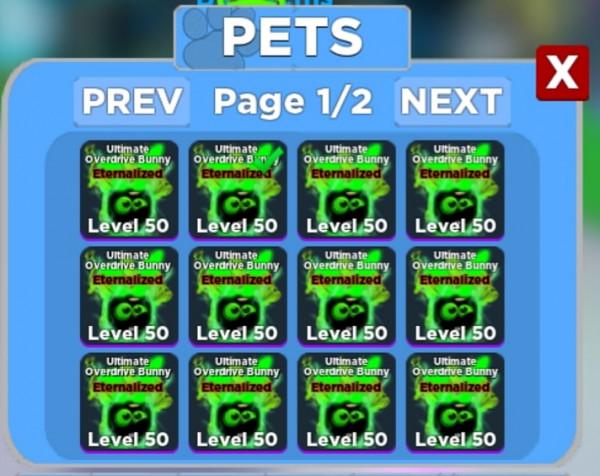 Pets Ninja Legends Overdrive Bunny (Level Max)
