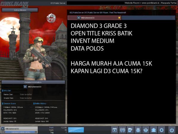 Diamond 3 Petik 3 OPEN TITLE KRISS BATIK