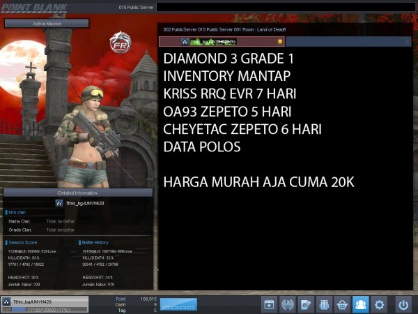 Diamond 3 Petik 1 KRISS RRQ EVR 7 HARI