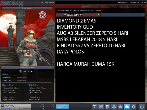 Diamond 2 Emas PINDAD SS2 V5 ZEPETO 10 HARI
