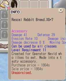 Rascal Rabbit Bread XG+7 Unnap