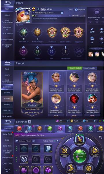 AKUN GG 67 HERO 50 SKIN