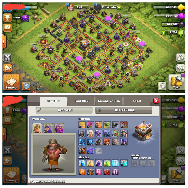 New Town Hall 11|Level Hero 24/42/5/10|Gem2754