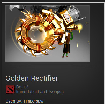 Golden Rectifier (Immortal TI9 Timbersaw)