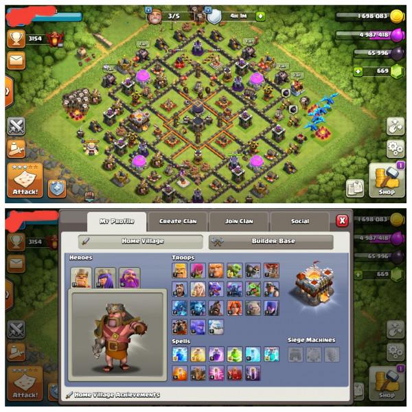 Town Hall 11|Defense Semi Max|Level Hero 29/32/15