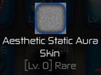 Aesthetic Static Aura Skin ( Swordburst 2 )