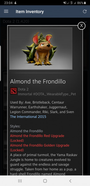 Almond the Frondillo (Pet) - 1 Style